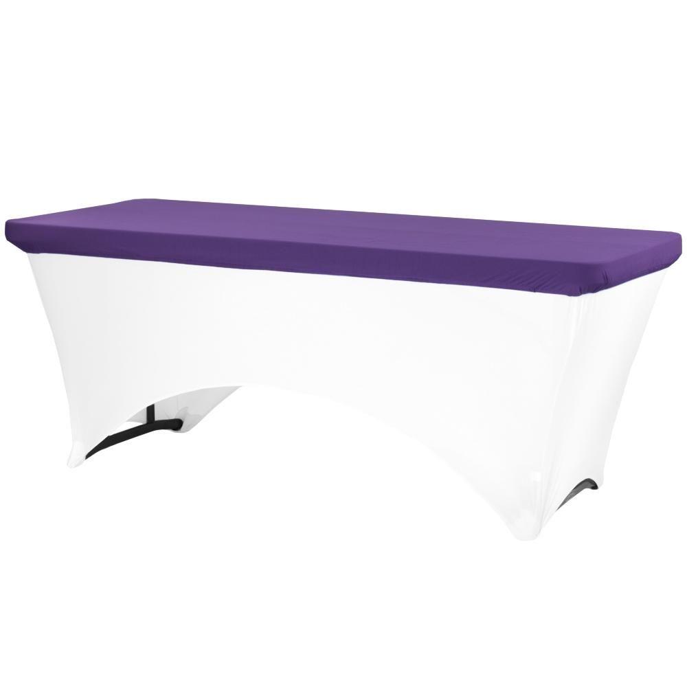 Spandex Table Topper/Cap 6 FT Rectangular - Purple