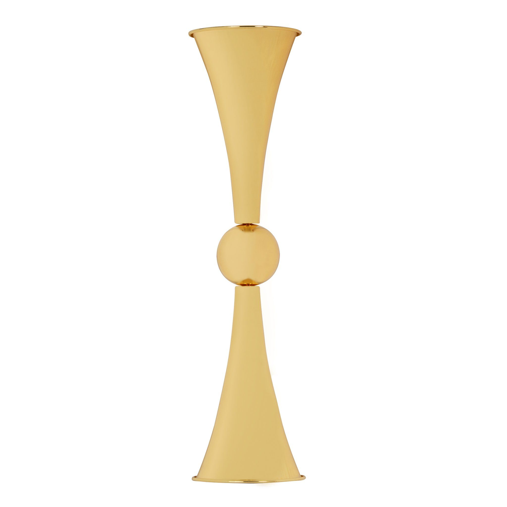 "Metallic Reversible Riser Flower Centerpiece Vase 28"" Tall - Gold"