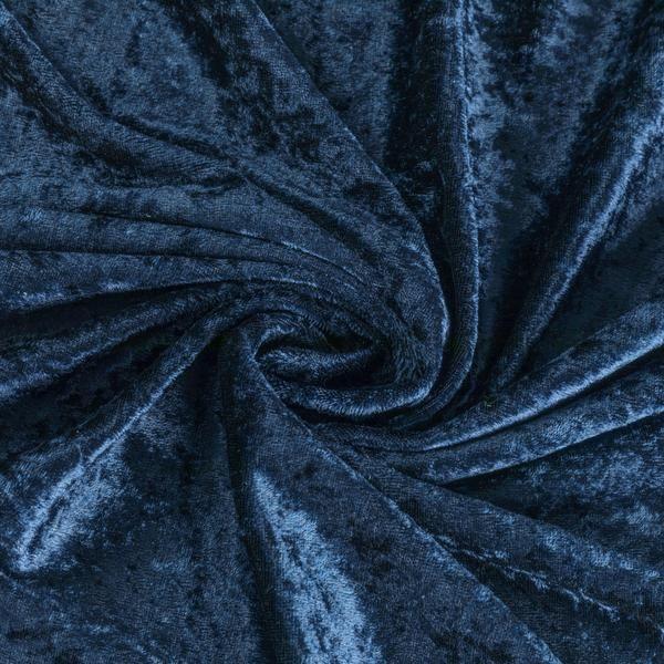 10 yards Velvet Fabric Roll - Navy Blue
