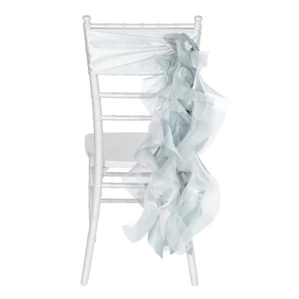 Curly Willow Chair Sash - Dusty Blue