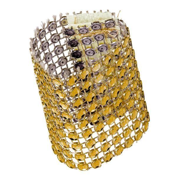 Rhinestone Velcro Sash Clip/Napkin Ring - Gold