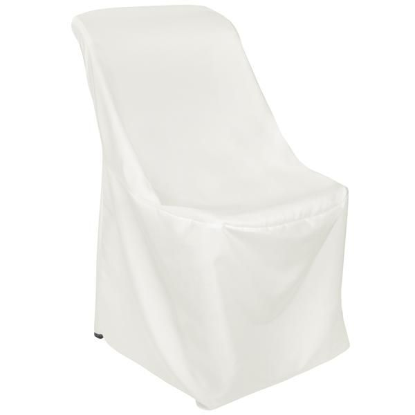 Contemporary LIFETIME folding chair Cover - Ivory