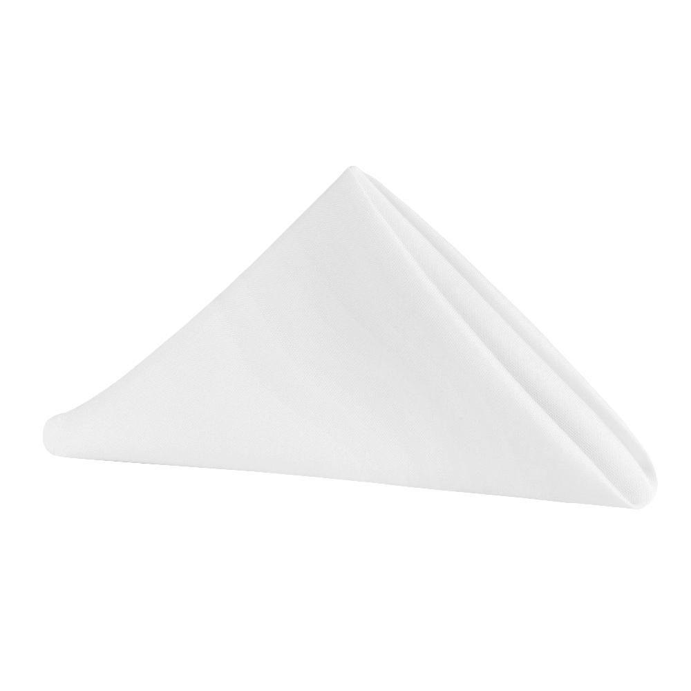 """Polyester Napkin 20""""x20"""" - White"""