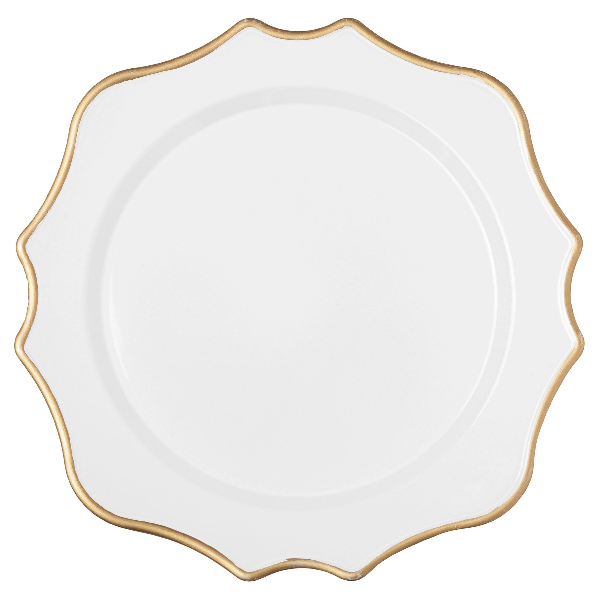 "Lotus Scalloped Acrylic 13"" Charger Plates"