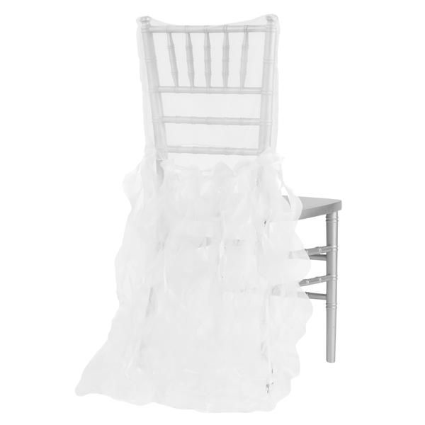 Curly Willow Chiavari Chair Back Slip Cover - White