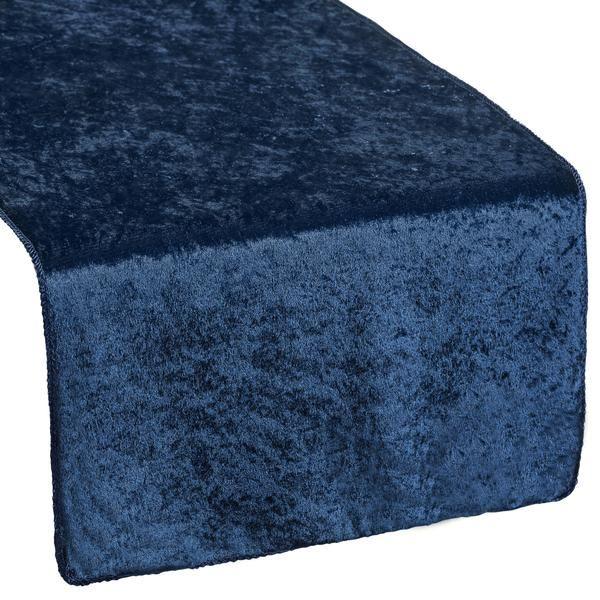 Velvet Table Runner - Navy Blue
