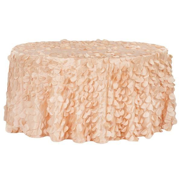 "Petal Circle Taffeta Round 120"" Tablecloth - Peach"