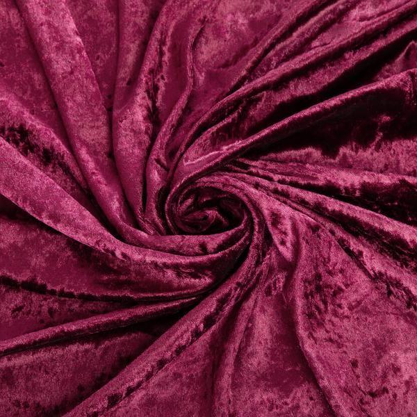 10 yards Velvet Fabric Roll - Burgundy