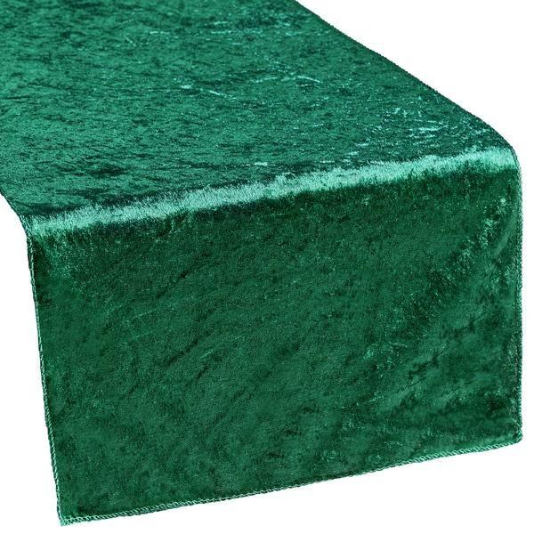 Velvet Table Runner - Emerald Green
