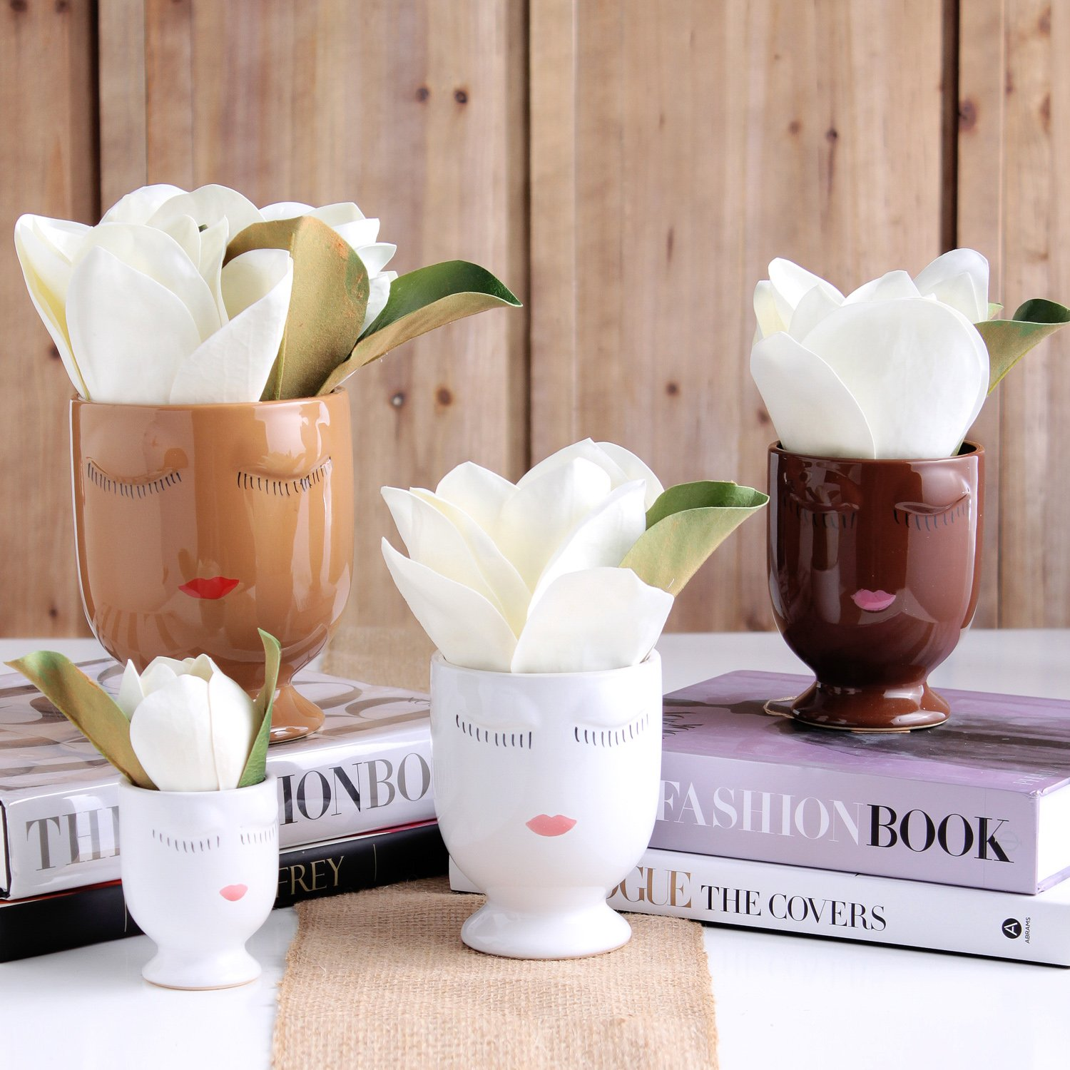 The Darby Diva Luxury Real Touch Magnolia Floral Arrangement