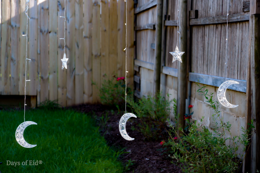 Moon and Star String lights