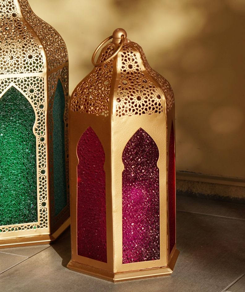 Moroccan Floor Lantern Set
