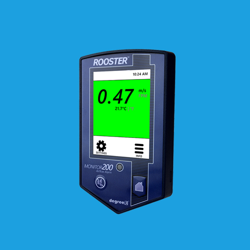 Rooster Monitor 200 with BACnet for ultimat protection and infectious diseas control in hospitals