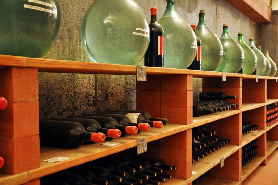 Conservare le bottiglie orizzontalmente