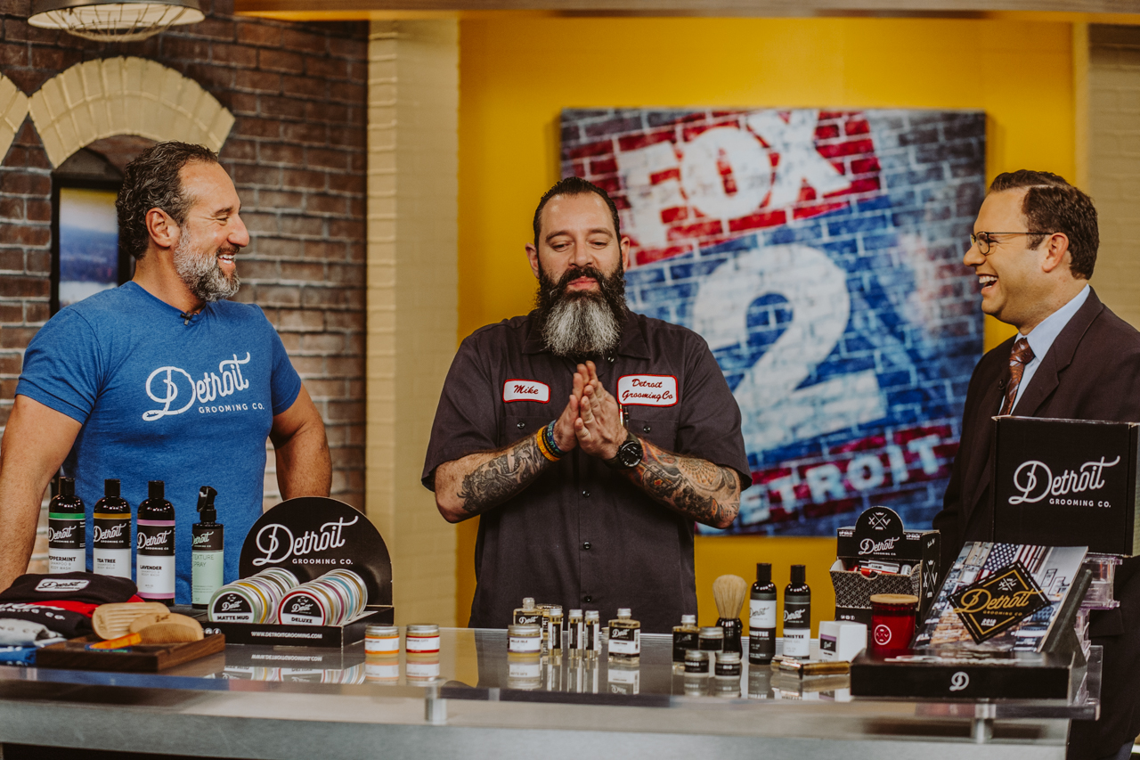 Detroit Grooming Lou and Mike on Fox 2 News Detroit