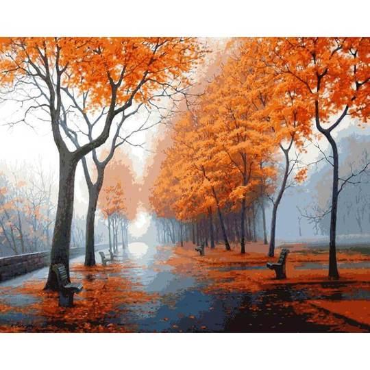 DIY Malen nach Zahlen Herbst Titel
