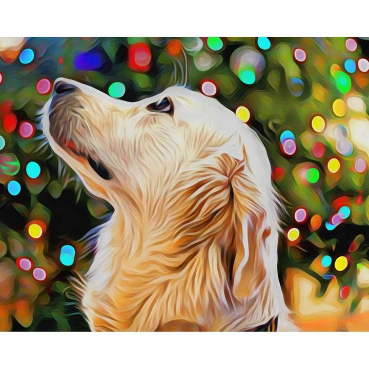 DIY Malen nach Zahlen Hunde