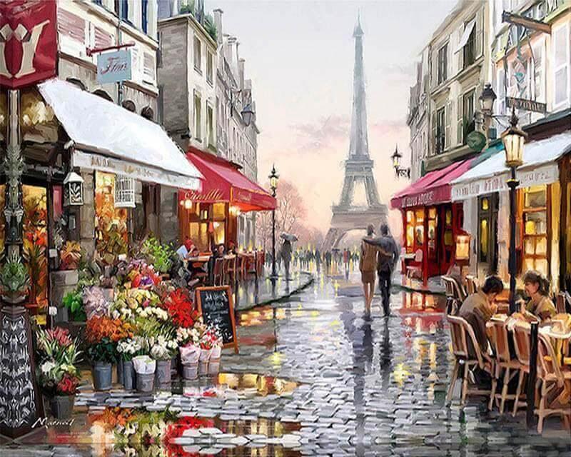 Malen nach Zahlen Pariser Straße