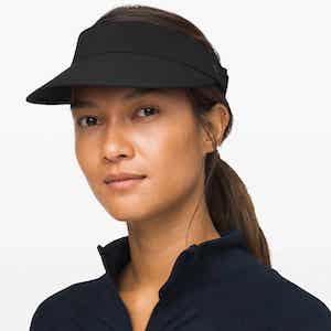 Black tennis visor