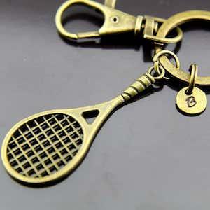 Tennis racquet key chain