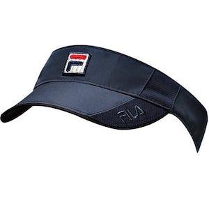 Blue fila tennis visor, with classic Fila logo
