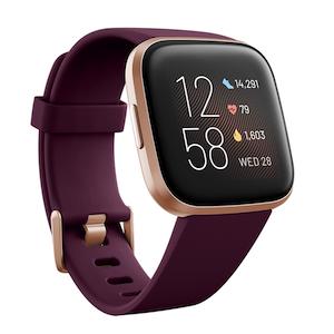 Purple fitbit watch