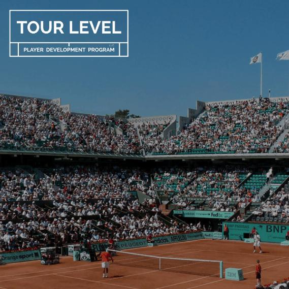 Full tennis stadium