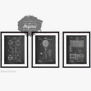 Tennis Patent Blueprints
