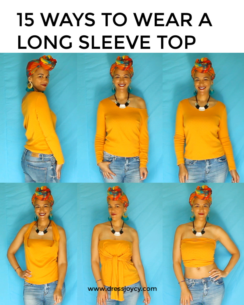 15 Ways To Wear a Long Sleeve Top | Capsule Wardrobe