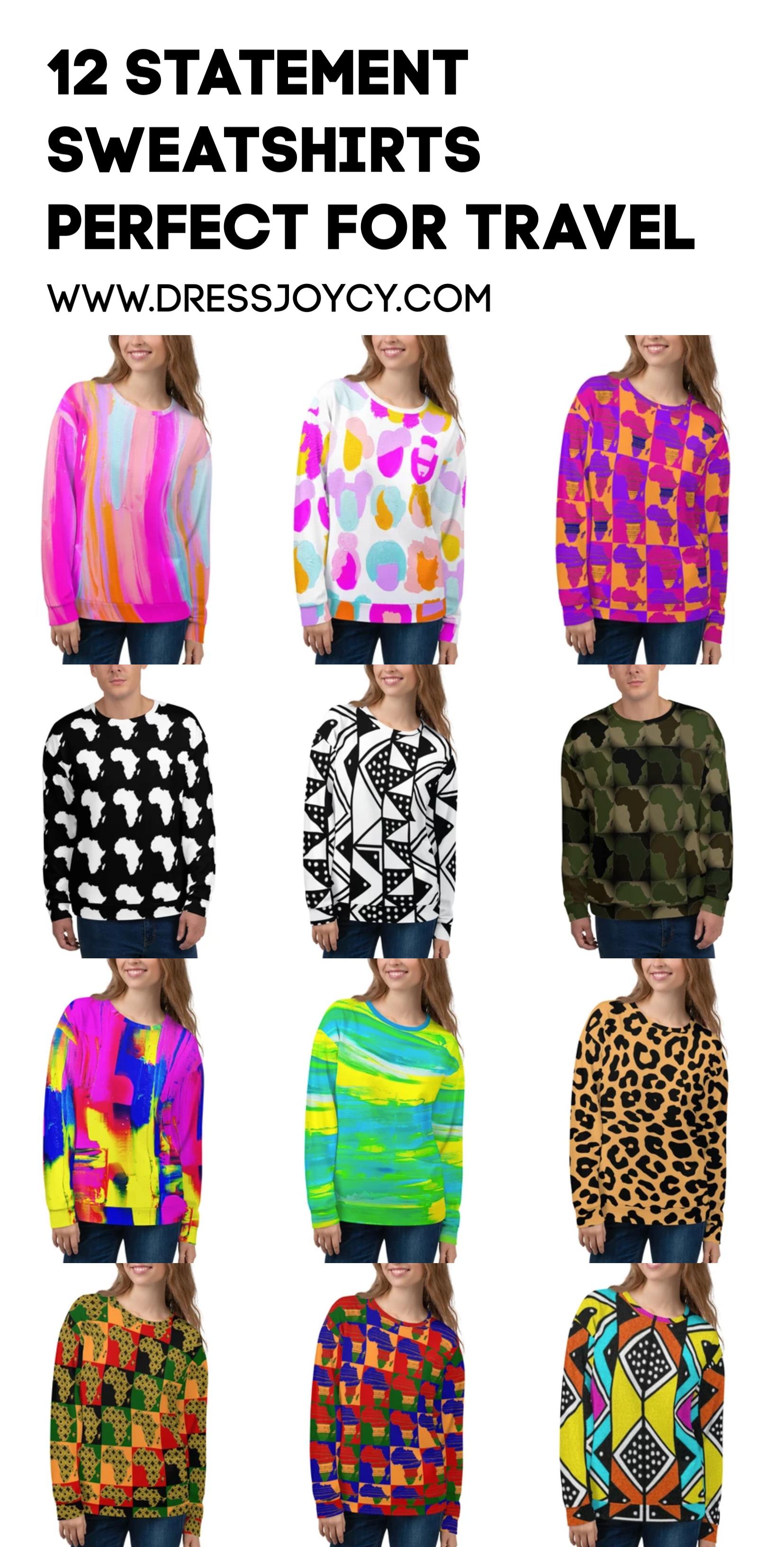 12 Statement Sweatshirts Perfect for Travel | Dressjoycy.com