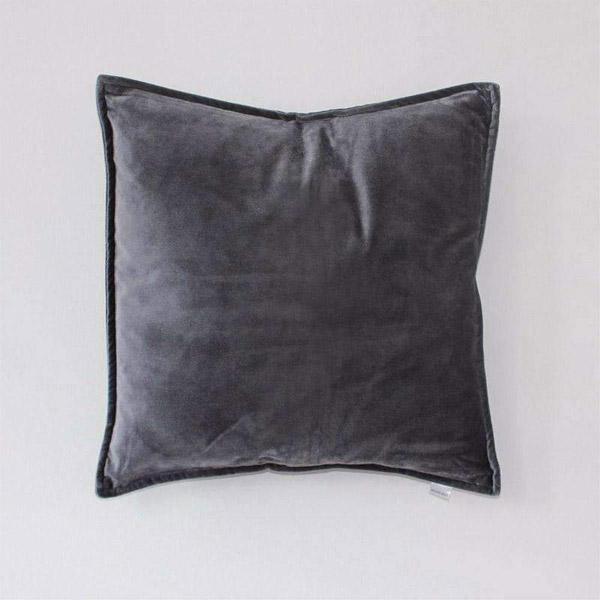Metallic Grey Velvet Cushion- 50cm