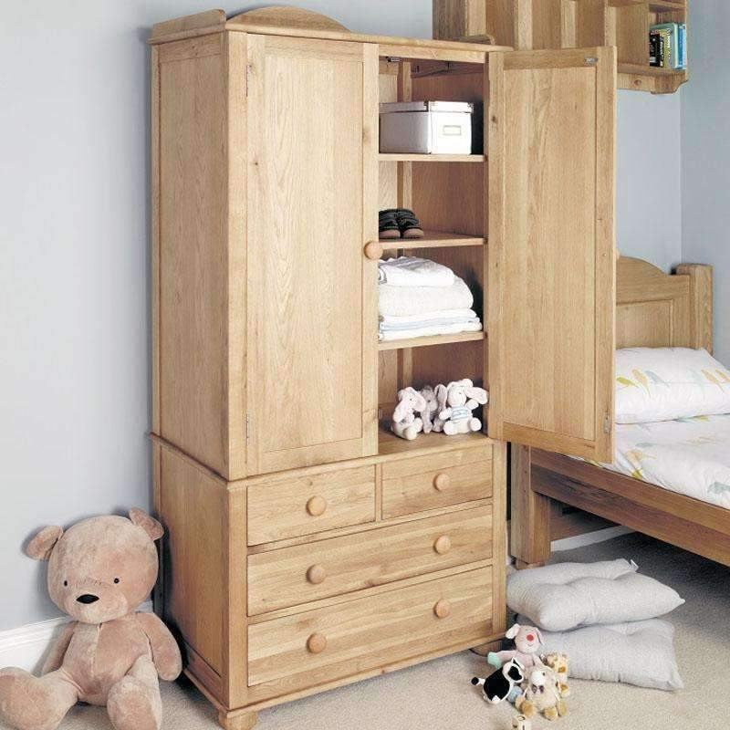 Amelie Oak Children's Double Wardrobe
