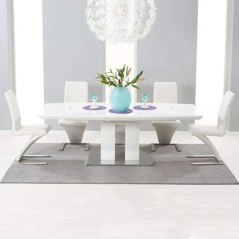 Rossini White High Gloss Extending Dining Table