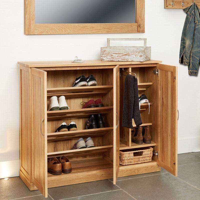Mobel Oak Extra Large Shoe Storage Cupboard