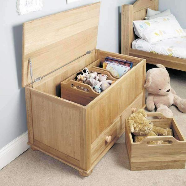 Amelie Oak Children's Toy/Blanket Box