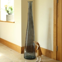 Airforce Blue Giant Tall Recycled Glass Vase