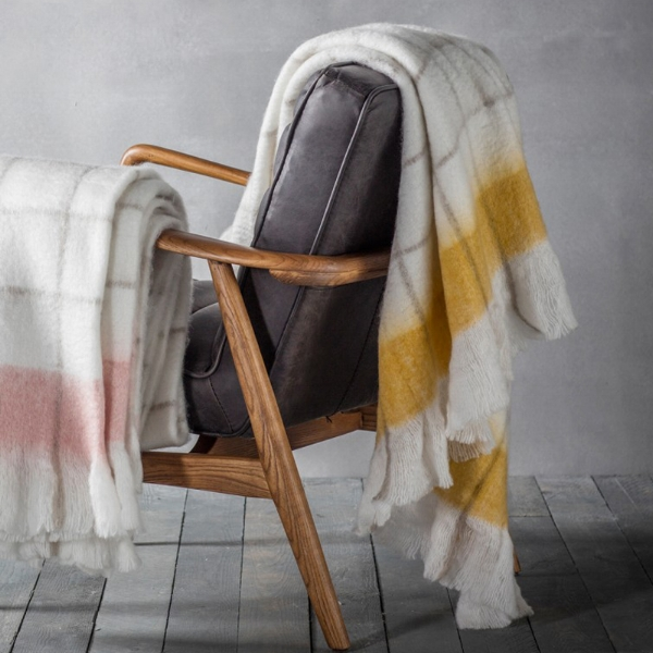 Agnes Mohair Feel Throw Ochre