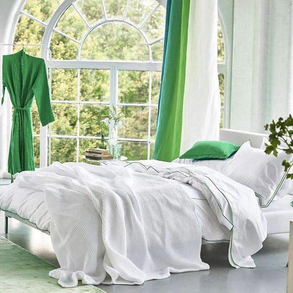Designers Guild Alba Alabaster Large White Throw 267 x 244cm