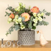 Sia Grey Honeycomb Vase