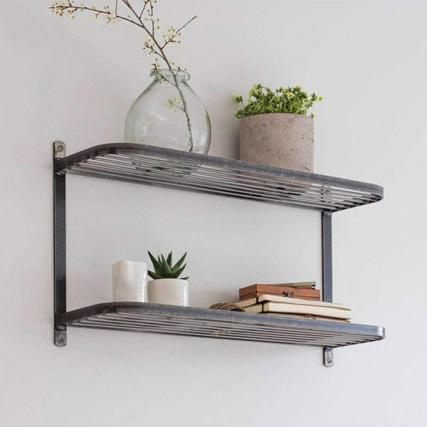 Farringdon Double Wall Shelf - Steel