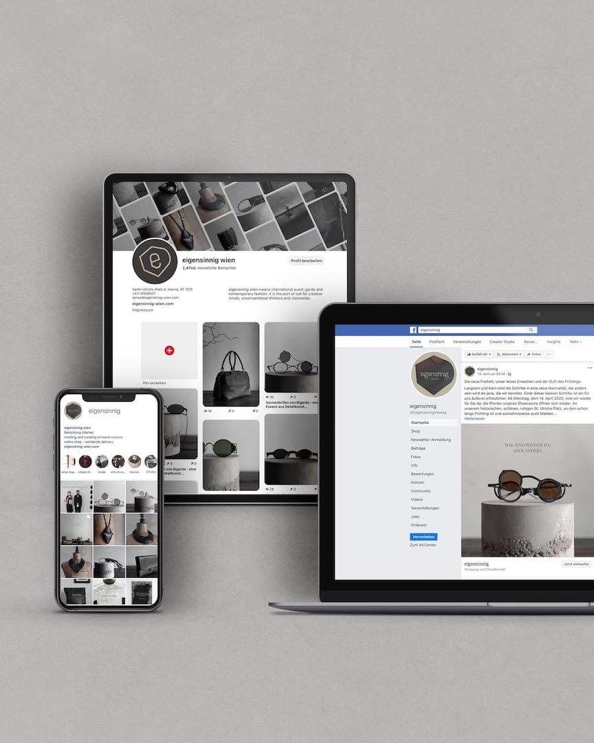 Facebook, Instagram und Pinterest | eigensinnig wien