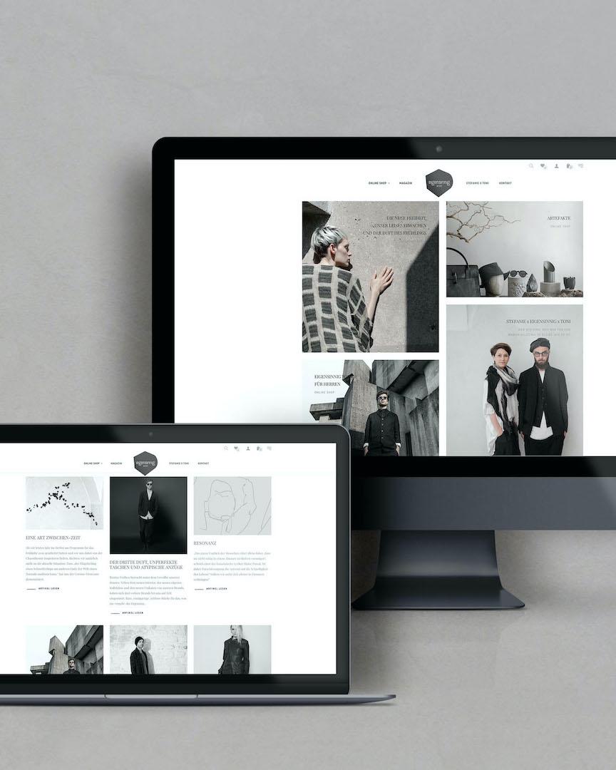 Die Früchte der Krise - neue Website, neuer Online Shop | eigensinnig wien