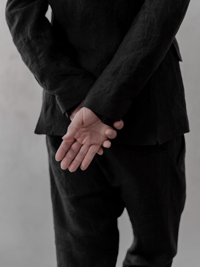 Avantgarde Mode in schwarz für Herren - Herren Sakko 'Travis' von Hannibal Menswear | eigensinnig wien