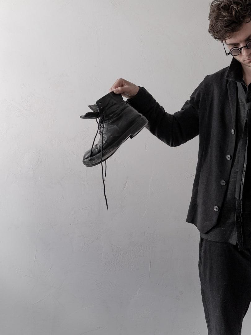 Avantgarde Mode für Herren in schwarz - Herrensakko Corbusier | eigensinnig wien