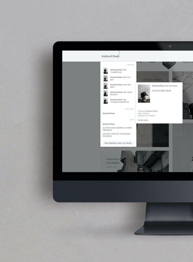 Der neue Suchfunktion der Website | eigensinnig wien