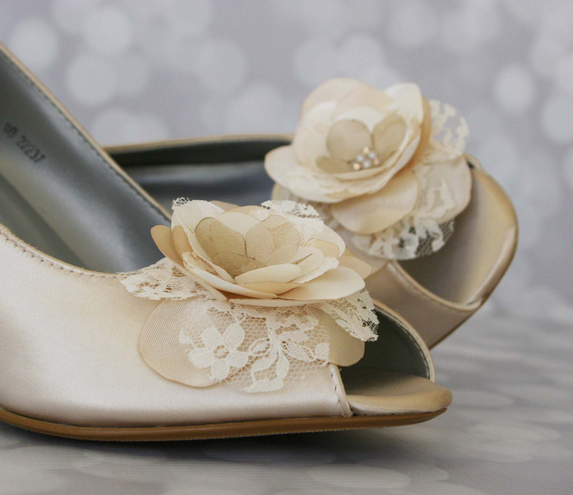 Ivory Lace Wedge Wedding Shoes Custom Wedding Shoes Designed by Ellie Wren