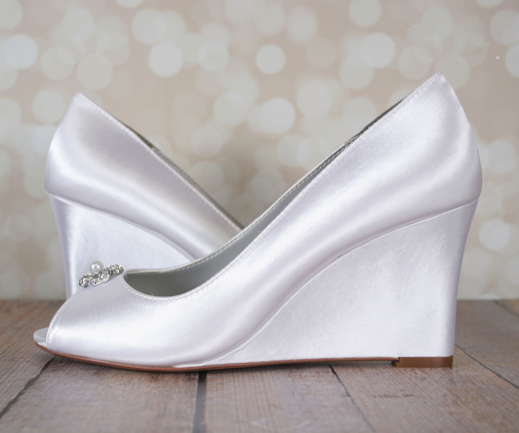 Comfortable Wedding Wedges Custom Bridal Wedges by Ellie Wren
