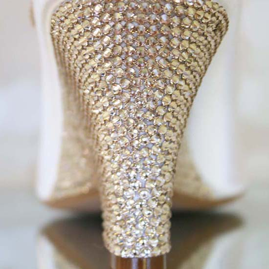 Swarovski Crystal Wedge Wedding Shoes Custom Wedding Shoes by Ellie Wren