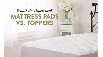 mattress pad vs. mattress topper