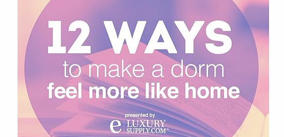 12 ways to make a dorm feel more like home
